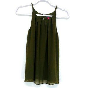 Vince Camuto Olive Green Flowy Tank
